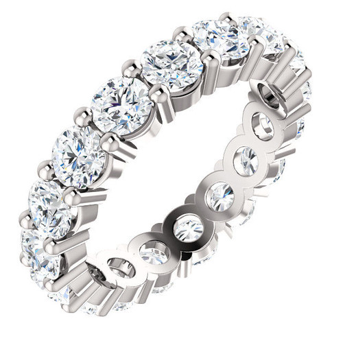 3.4 Ct Tw Round Cut Classic Eternity Ring