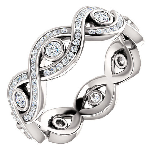 White Gold Twisted Eternity Ring