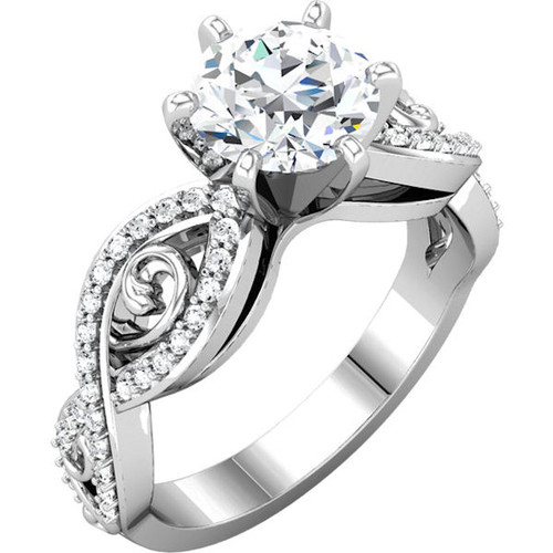 Sculptural Style Engagement Ring