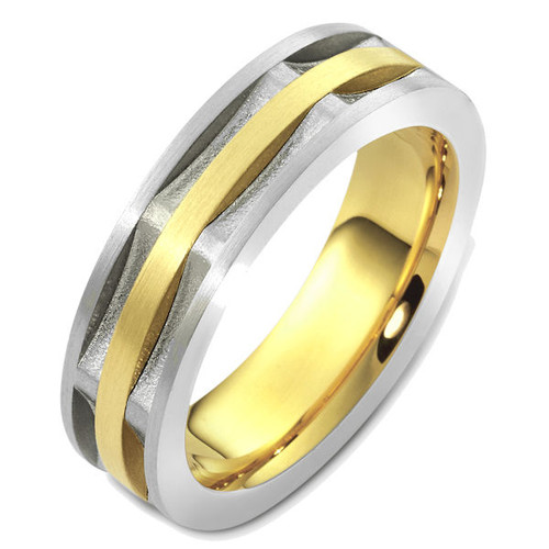 Two-Tone Contemporary Wedding Ring