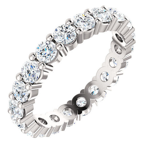 White Gold Classic Diamond Eternity Ring