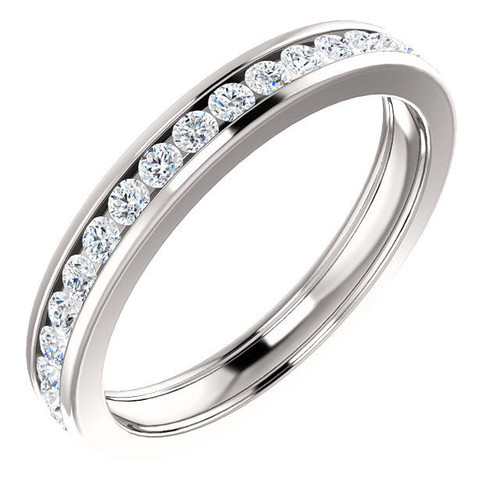 White Gold Channel Diamond Eternity Ring