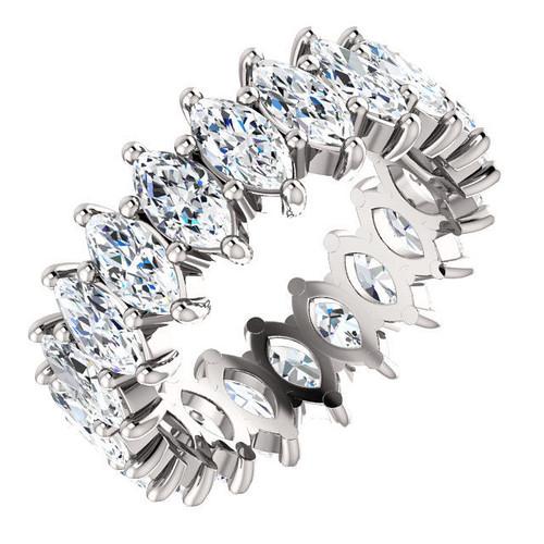 Platinum Marquise Diamond Eternity Ring