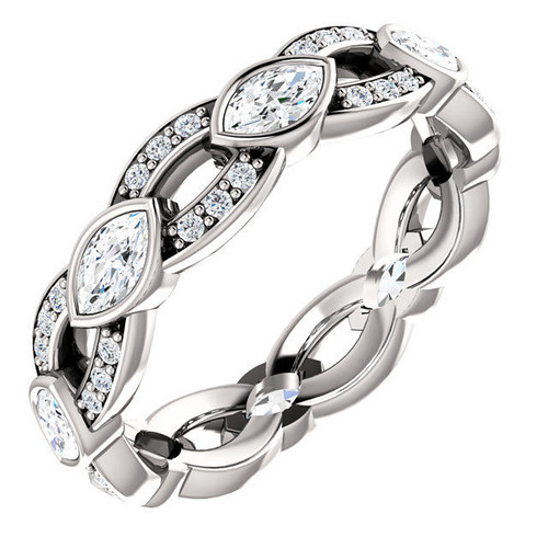 White Gold Marquise Diamond Eternity Ring