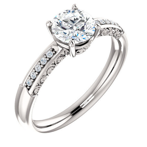 0.05 Ct Tw Diamond Accent Engagement Ring