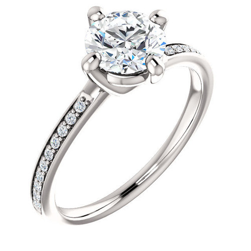 0.10 Ct Tw Diamond Accent Engagement Ring