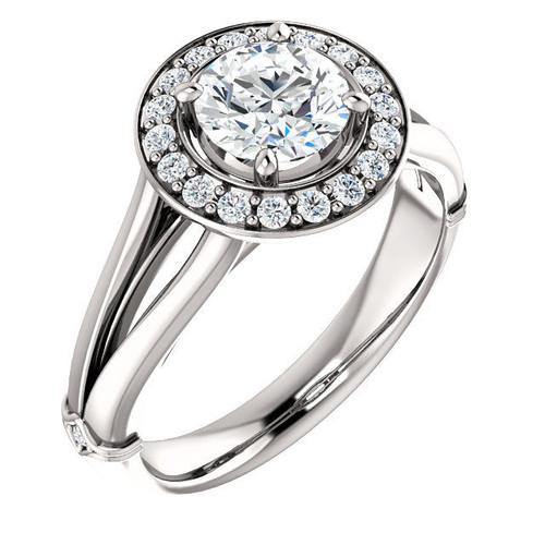 0.19 Ct Tw Diamond Halo Engagement Ring