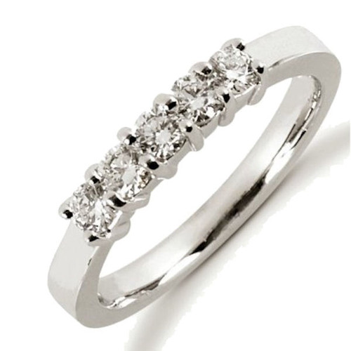 0.50 Ct Tw 5-Stone Diamond Anniversary Ring