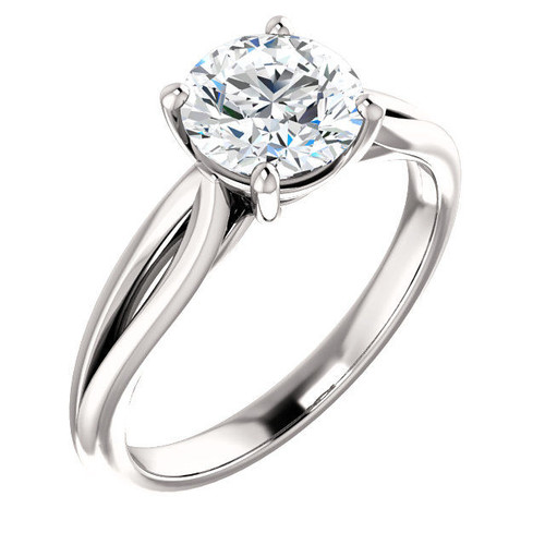 Open Band Solitaire Engagement Ring
