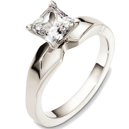 Solitaire Princess Engagement Ring