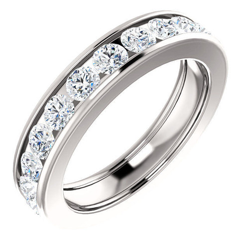 Platinum 2.2 CT TW Channel Set Diamond Eternity Ring