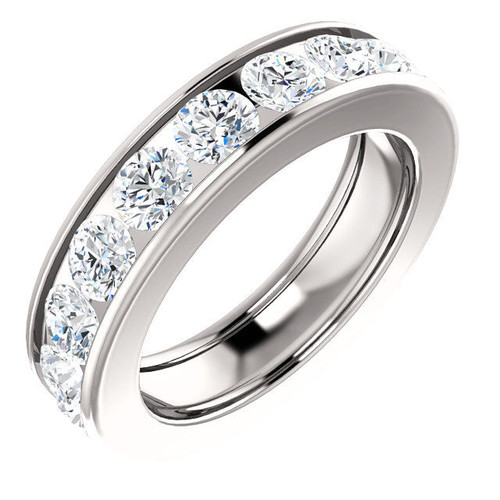 Platinum 3.6 ct tw Channel Set Diamond Eternity Ring