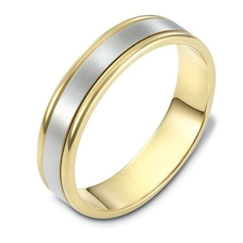 14Kt Two-Tone Gold Classic Wedding Ring