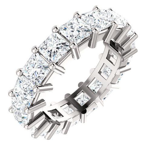 White Gold 6.5 ct tw Princess Cut Diamond Eternity Ring