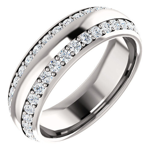 White Gold 2-Row Diamond Eternity Ring