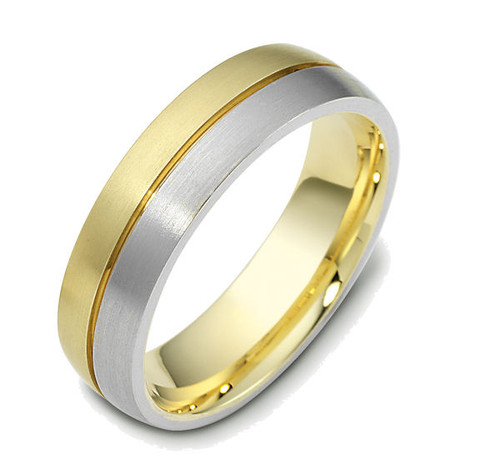14Kt Two-Tone Gold Classic Wedding Band