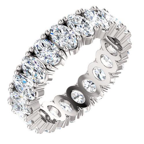 Platinum Oval Diamond Eternity Ring