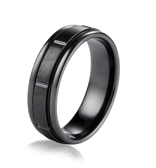 Black Titanium Wedding Ring