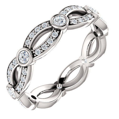 0.56 Ct Tw Designer Diamond Eternity Ring