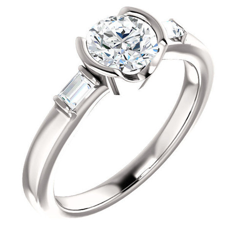 Platinum 3-Stone Engagement Ring