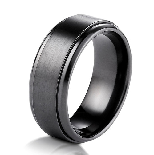 Black Cobalt Chrome Classic Wedding Ring