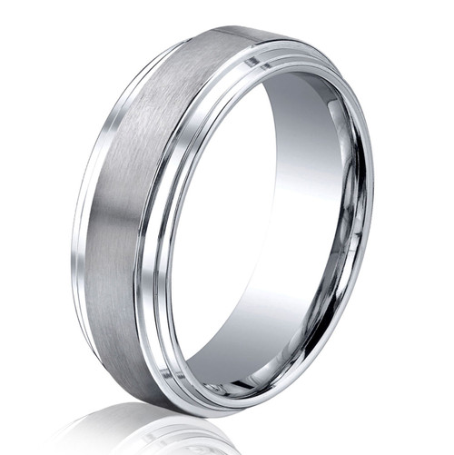 Cobalt Chrome Classic 8.0 MM Wide Wedding Ring