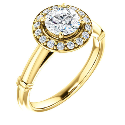 Round Cut Halo Diamond Engagement Ring