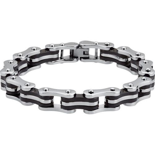 Stainless Steel Bike Chain Link Bracelet