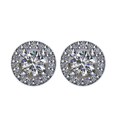 Halo, 5/8 CT TW Diamond Stud Earrings