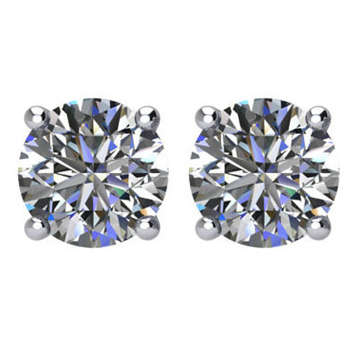 1.5 CT TW Round Diamond Stud Earrings
