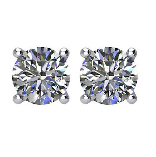3/4 CT TW Round Diamond Stud Earrings