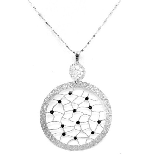 Frederic Duclos Circle Lace Pendant