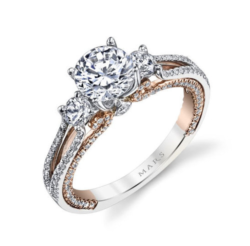 0.66 Diamond Rose & White Gold Engagement Ring