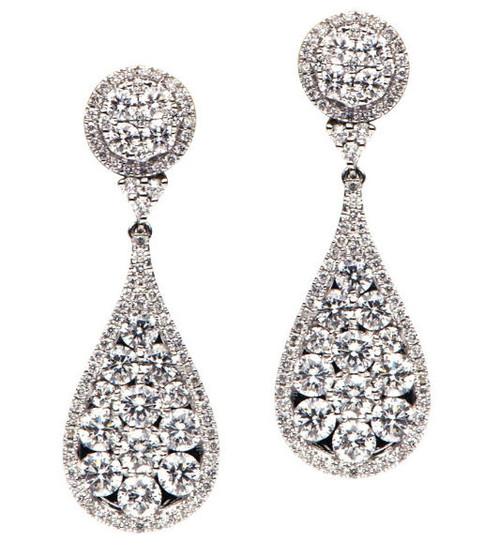 Diamond Drop Earrings 2.88 Ct Tw.