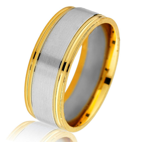 Two-Tone Gold Classic Wedding Ring