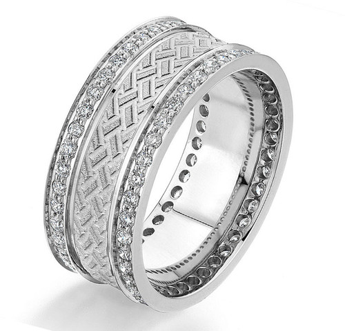 0.84 Ct Tw Diamond Wedding Band