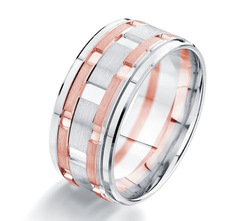 Rose & White Gold Wedding Ring
