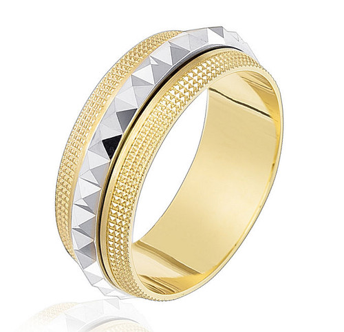 Two Two Gold Spinning Wedding Band
