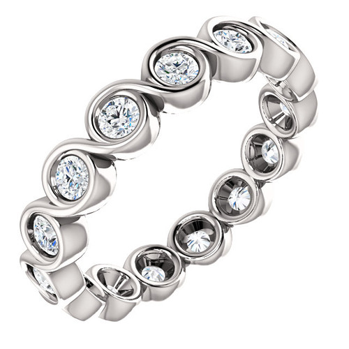 White Gold Diamond Bezel Eternity Ring