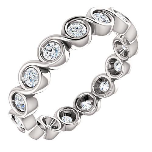 White Gold Diamond Bezel Eternity Ring