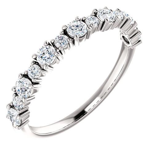 White Gold Round Diamond Anniversary Ring