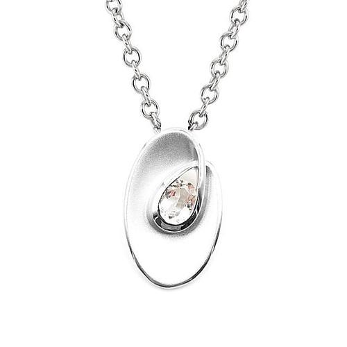 Silver White Topaz Pendant