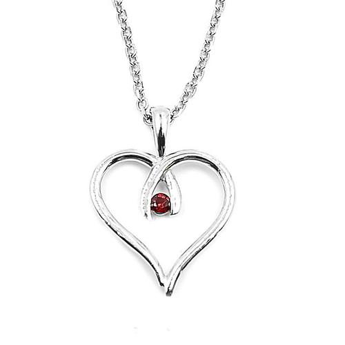 Garnet Heart Pendant