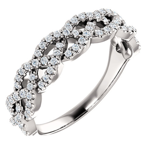 Diamond Braid Ring