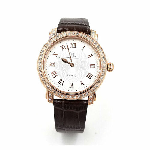Rose Lugano Brown Watch
