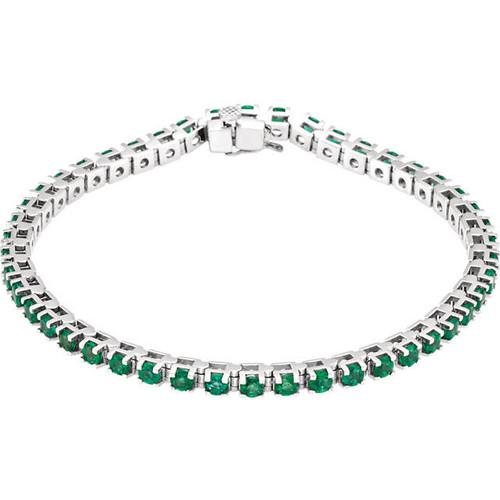 Emerald Gemstone Tennis Bracelet