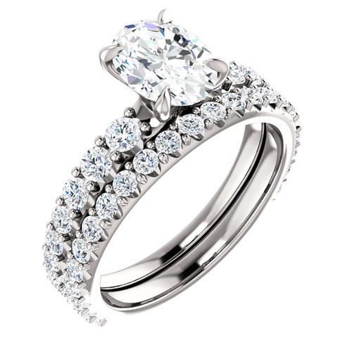 Oval Diamond Bridal Set