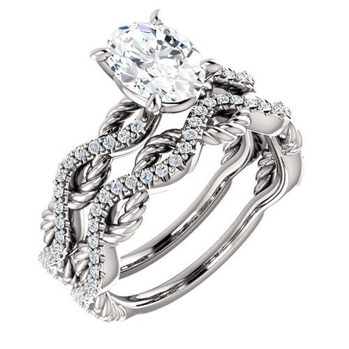 Rope Twisted Diamond Bridal Set