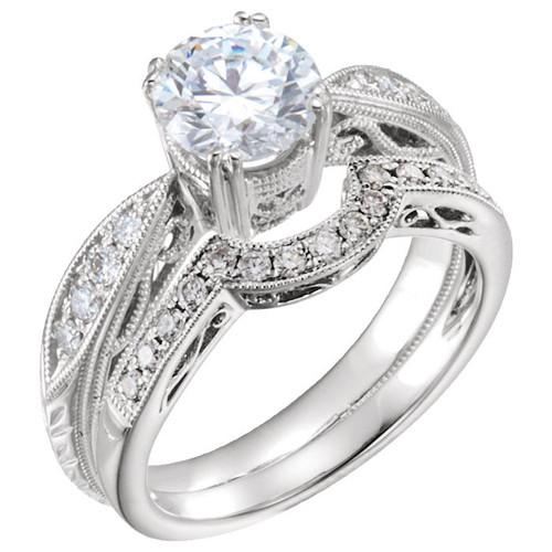 Vintage Diamond Accent Bridal Set