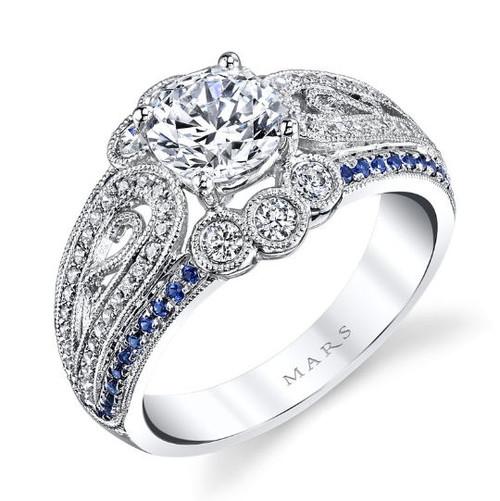 Sapphire & Diamond Vintage Ring